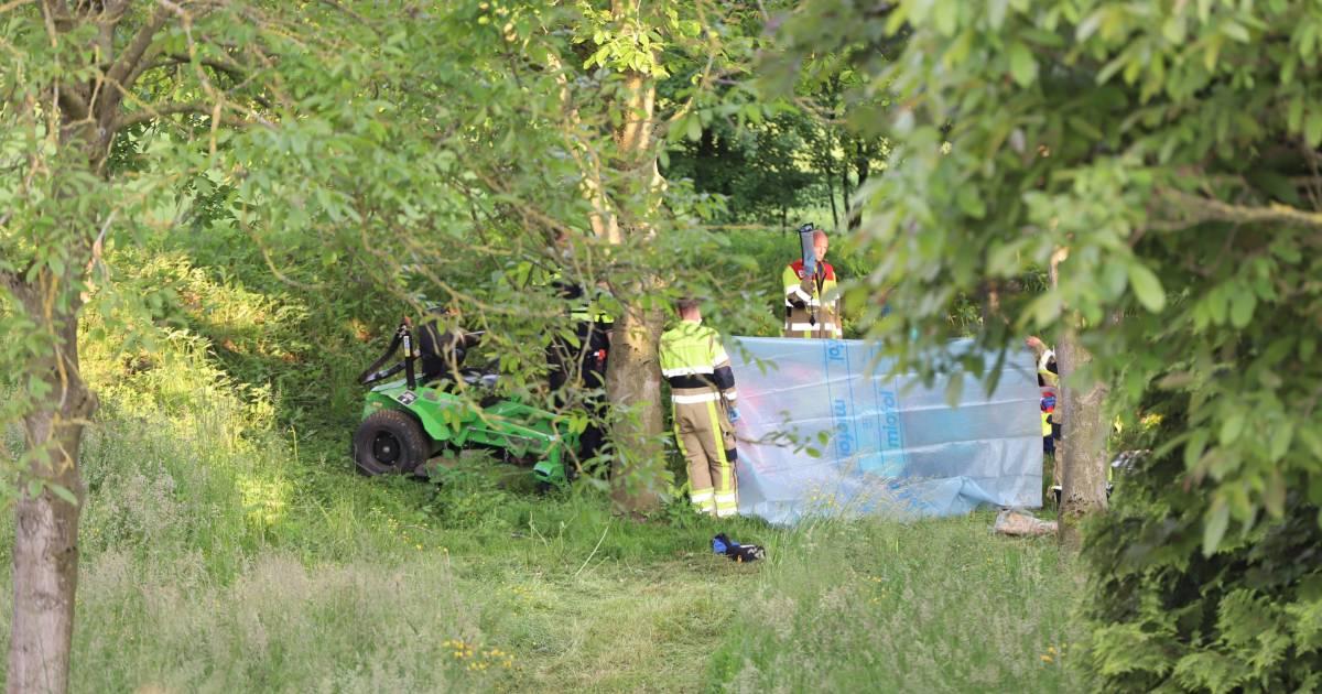 Man overlijdt na ongeluk bij grasmaaien.