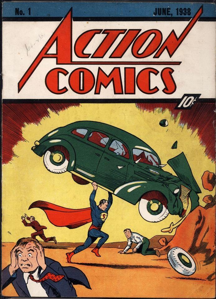 De cover van Action Comics nummer 1, uitgegeven in juni 1938.
