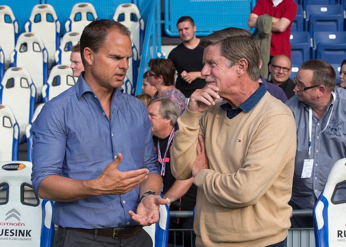 Frank de Boer in gesprek met Hans Westerhof.