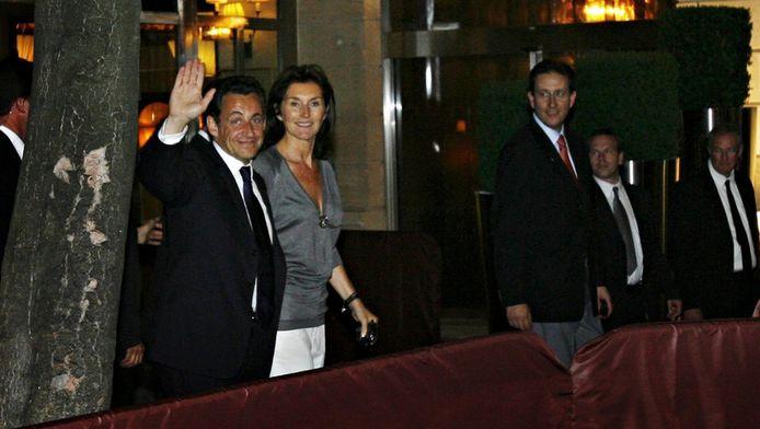 Nicolas et Cecilia Sarkozy, à la sortie du Fouquet's au soir du second tour de l'élection présidentielle de 2007.