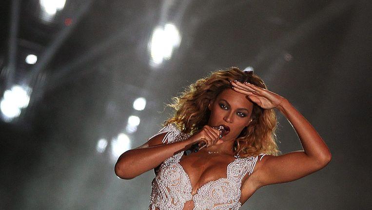 De Amerikaanse zangeres Beyoncé. Beeld EPA
