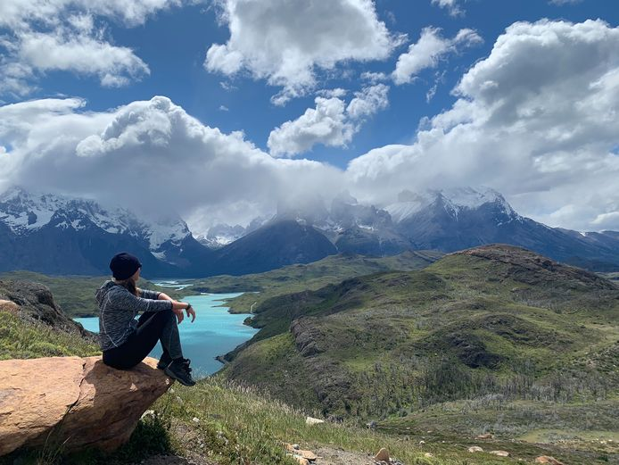 """Annefleur Botteram genoot het meest van de natuur. Maureen: ,,Deze foto is gemaakt in Patagonië, Torres  del Paine, waar Annefleur en ik samen waren."""""""