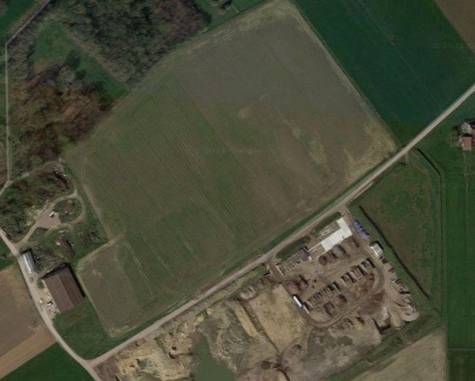 Het terrein naast de steengroeve zal bebost worden.