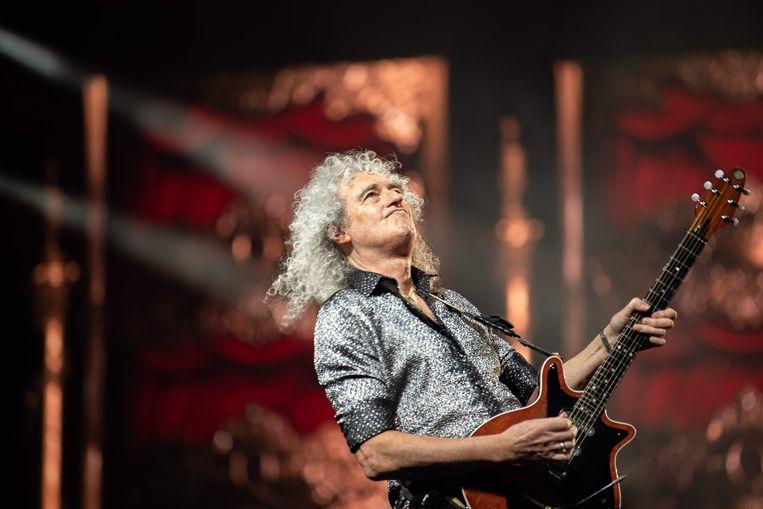 Brian May, de legendarische gitarist van Queen.  Beeld AFP