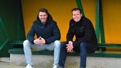 Groot onderling respect tussen Yves Van Acker (RFC Wetteren) en Jurgen Van Herreweghe (SK Lochristi)