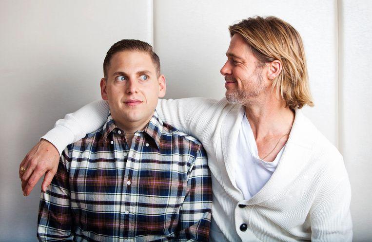Jonah Hill (l.) en Brad Pitt (r.) schitteren samen in 'Moneyball'. Beeld REUTERS