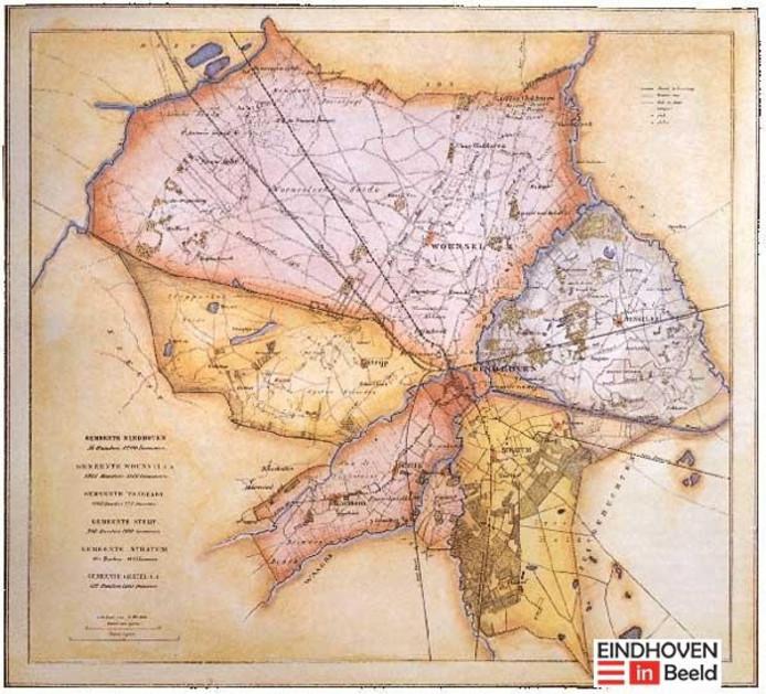 Kaart Eindhoven