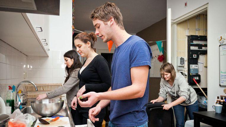 Joods studentenhuis vlnr: Judith, Rachel, Ralph en Floor. © Marc Driessen Beeld