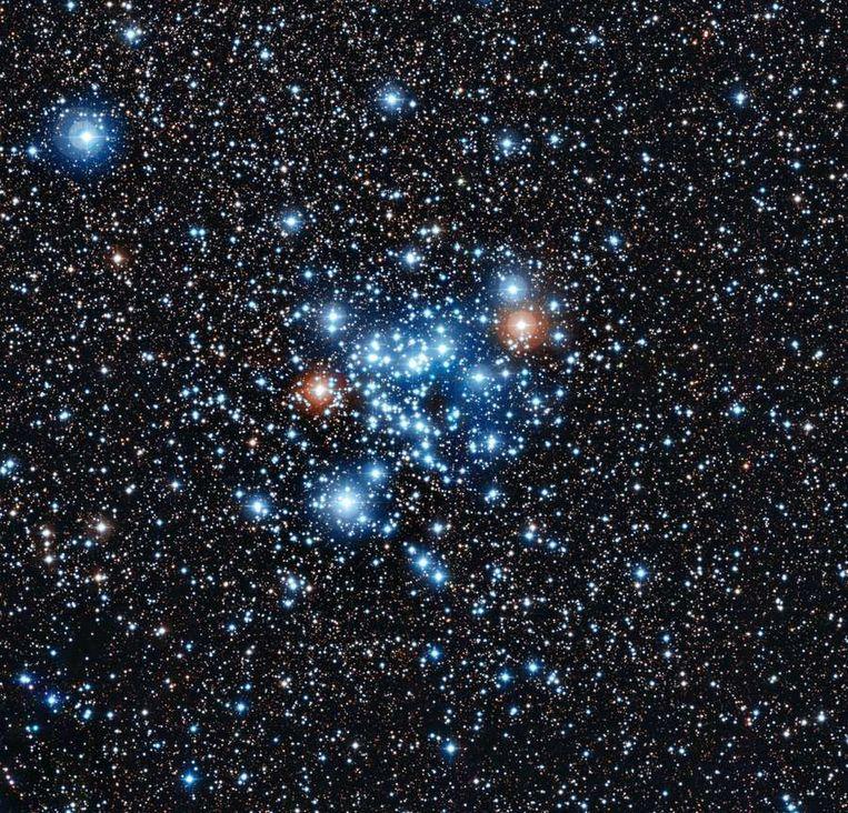 Beeld van de veranderlijke sterren met de telescoop van het La Silla-obesrvatorium in Chili. Beeld AFP