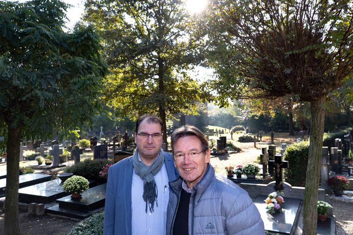 Antwan Kuis (links) en Rini Braat organiseren Avond van het Licht in Sint-Oedenrode.