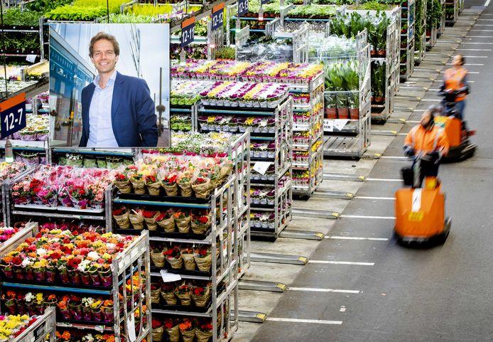 Bedrijven die in de problemen zijn gekomen vanwege corona, omdat ze bijvoorbeeld hun bloemen niet konden exporteren, komen in aanmerking voor het fonds van NLInvesteert. Inzet: Dirkjan Takke