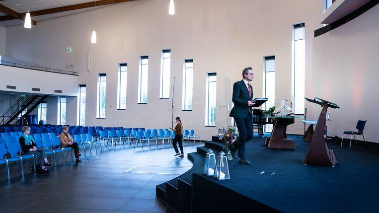 In de Trinitas-kerk in Heerenveen. Beeld Reyer Boxem