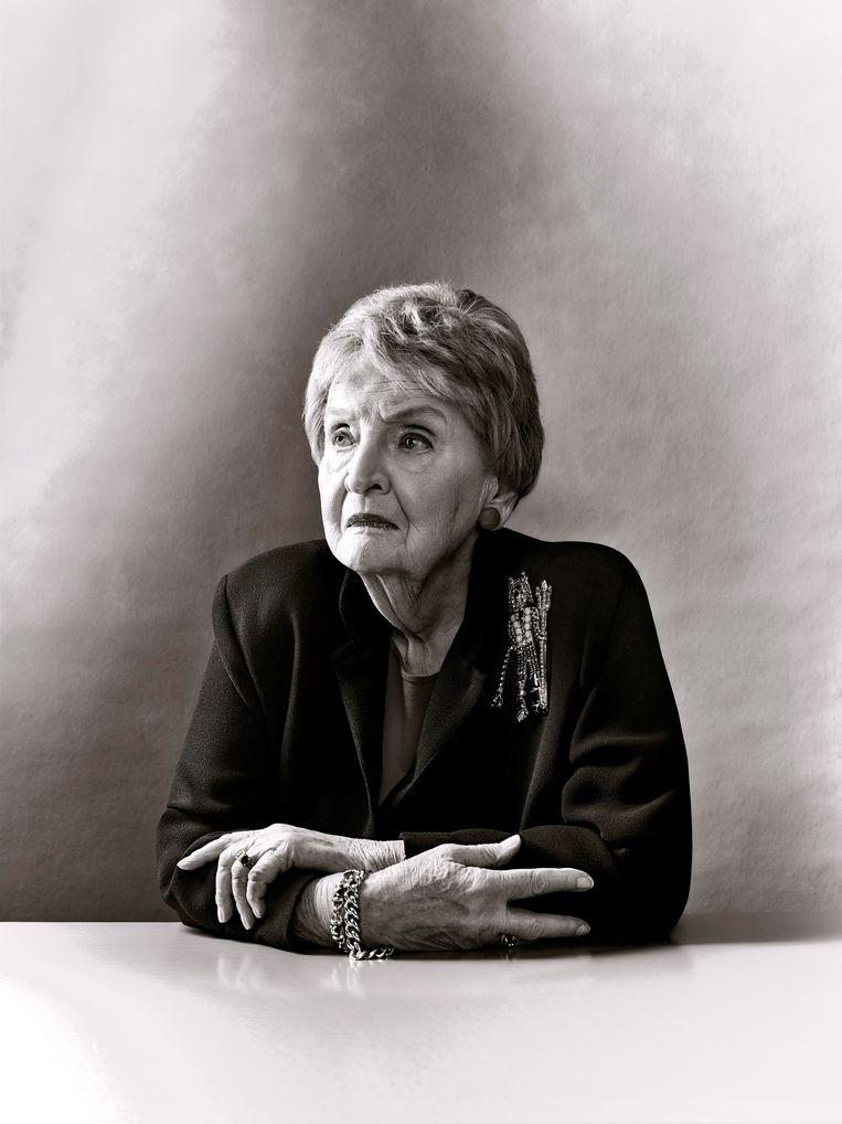 Madeleine Albright over het opkomende nationalisme: 'Ik begrijp wel waarom mensen zich verloren voelen in een geglobaliseerde wereld. Dat ze willen weten wat hun identiteit is; dat willen we allemaal.' Beeld Brad Trent/Redux