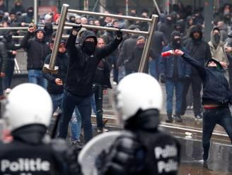 Onze reporter maakte veel betogingen mee, maar nooit zo grimmig als gisteren