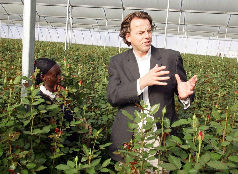Koenders als minister voor Ontwikkelingssamenwerking in 2008 op bezoek in Kenia. Beeld anp