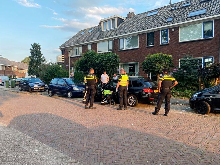 De politie heeft diverse aanhoudingen verricht in Gouda.  Beeld Hollandse Hoogte / AS Media