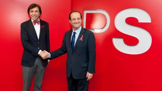 In november ontmoetten Di Rupo en Hollande elkaar al eens in Brussel.