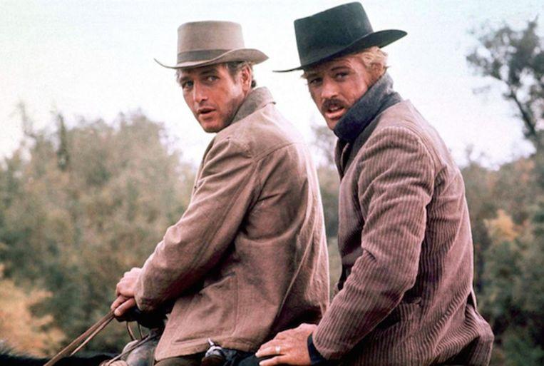 Paul Newman (links) en Robert Redford in Butch Cassidy and the Sundance Kid van George Roy Hill (1969). Beeld