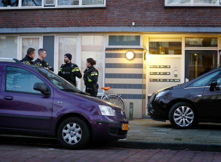 De politie op de Oudenoord in Utrecht Beeld anp
