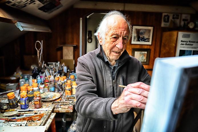 Jan Bakker aan het werk.