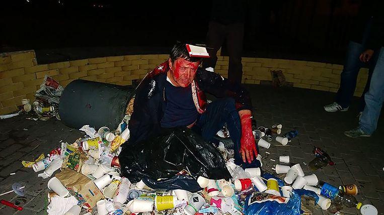 De 'trash bucket challenge' wordt vooral op internet getoond. De vuilnisbakkenrage geeft Oekraïne een slechte naam, zo vreest minister van Binnenlandse Zaken Arsen Avakov. Beeld .