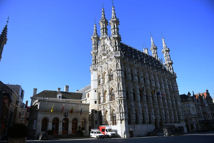 Stadhuis op de Grote Markt in Leuven