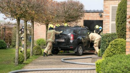 Brand in garage door defect aan diepvriezer