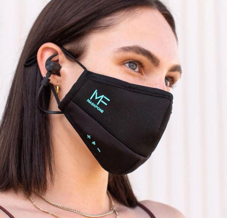 Hightech-mondkapje van Maskfone. Beeld Maskfone