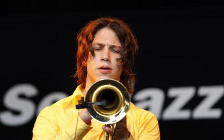 Trompettist Rob van de Wouw op het North Sea Jazz festival in Ahoy in Rotterdam. ANP Beeld
