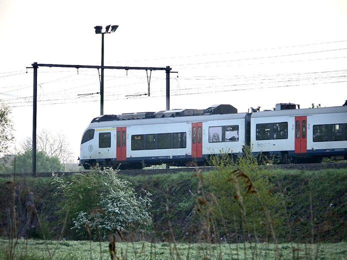 Het treinverkeer was een tijd onderbroken.