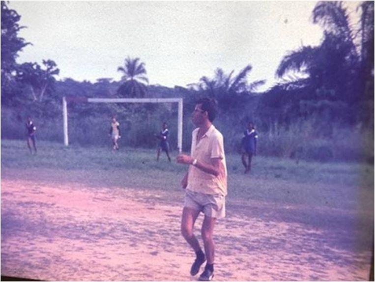 Herman Janssen op het voetbalveld. Beeld Privébezit