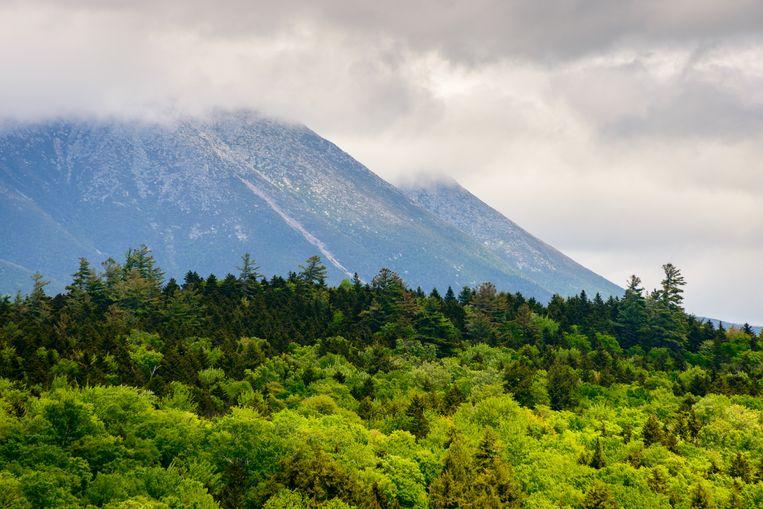 Mount Katahdin in het Katahdin Woods and Waters National Monument.
