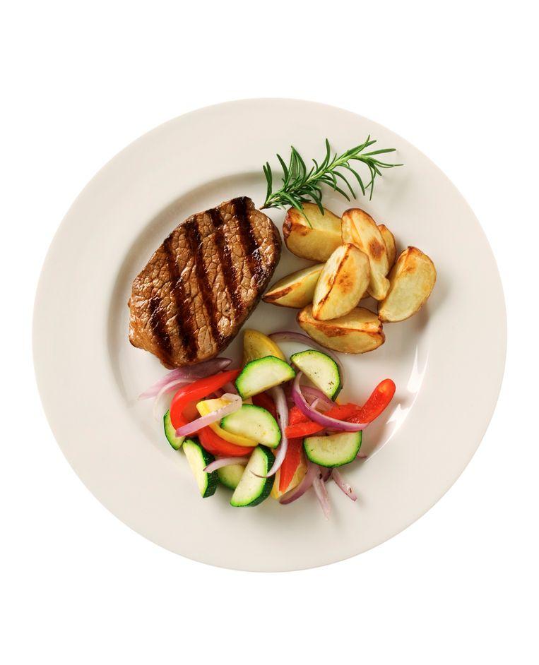 Vlees, groenten en aardappelen: we eten het steeds minder. Beeld Thinkstock