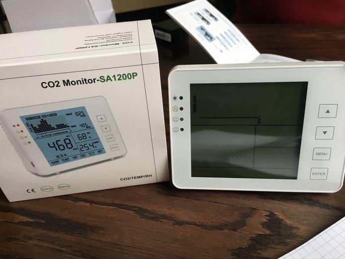 Een CO2-meter meet voortdurend de luchtkwaliteit in huis. (illustratiebeeld)