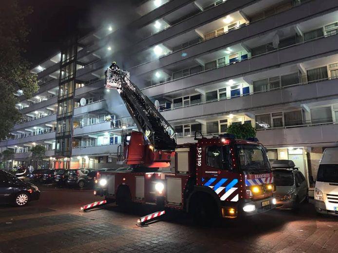 Er was veel rookontwikkeling in de flat tijdens de brand in 2019.