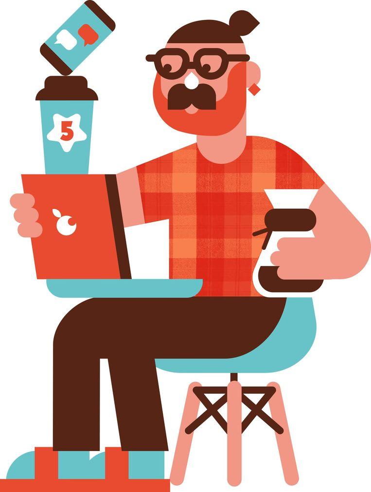 De cafeïnewerker Beeld RV