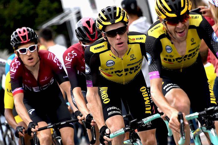 Steven Kruijswijk tijdens de twintigste etappe in de Tour de France.