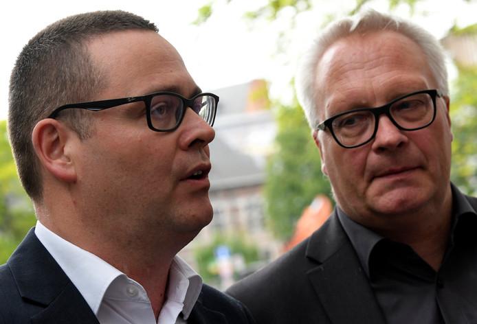 Raoul Hedebouw et Peter Mertens, porte-parole et président du PTB.