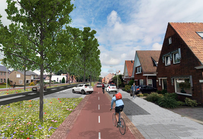 In 2019 wordt de Scheldeweg, de entree van Hoogerheide, heringericht met veel groen, aan weerszijden een fietspad met tweerichtingsverkeer, opstelstroken en parkeervakken voor auto's.