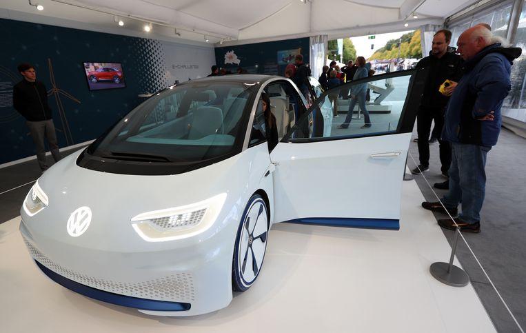 De Volkswagen I.D. is het eerste prototype van een volledig elektrische Volkswagen  Beeld EPA