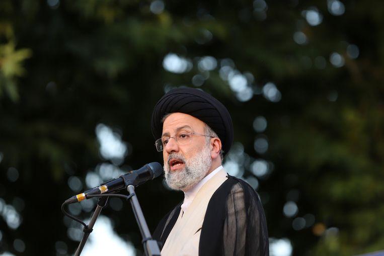 Kandidaat en opperrechter Ebrahim Raisi. Beeld via REUTERS