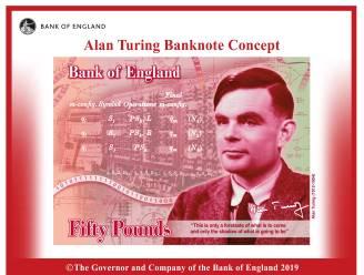 Man die Enigma-code kraakte en zo Tweede Wereldoorlog hielp beslechten op Brits bankbiljet