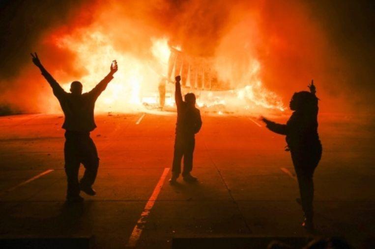 null Beeld Rellen in Ferguson EPA