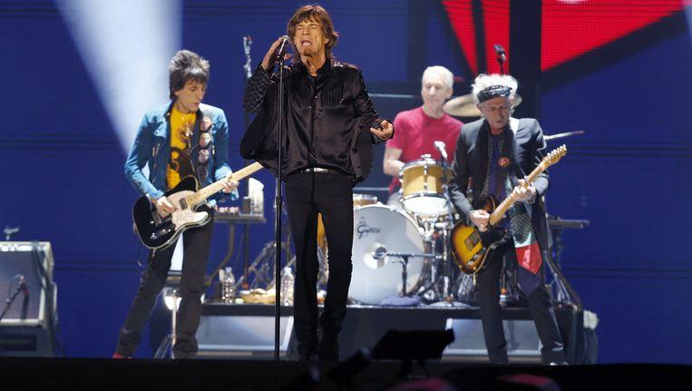 De Stones tijdens een optreden in Japan, twee weken geleden. Beeld ap