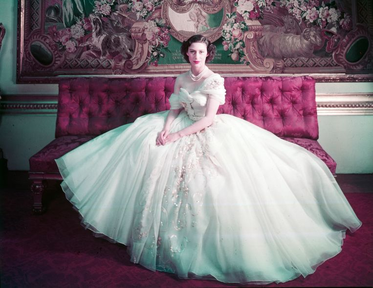 Princess Margaret in 1949. Beeld Cecil Beaton, Victoria and Albert Museum, London