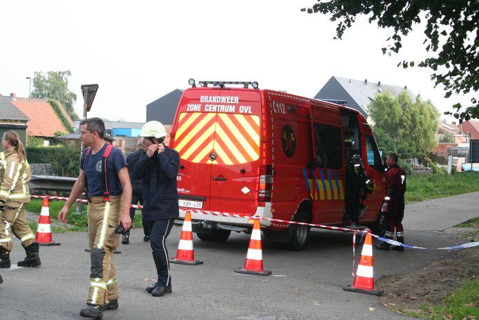 Een duikersteam van brandweerzone Centrum werd ingezet voor de zoekactie.