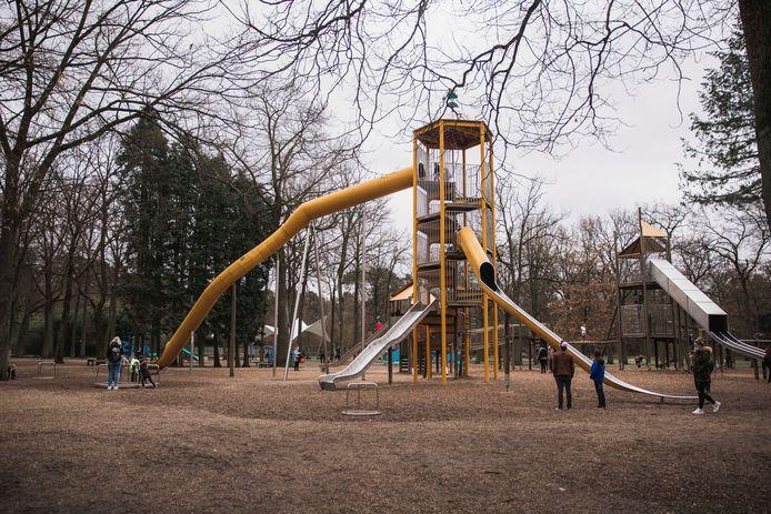 De speeltuin in Bokrijk is gratis toegankelijk tijdens het weekend.