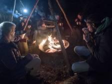Pompoensoep en wild zwijn rond kampvuur op Holterberg