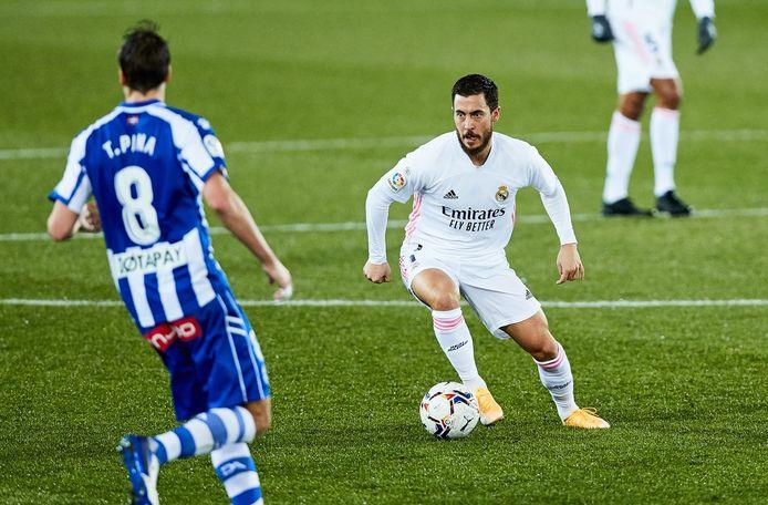 Eden Hazard in het shirt van Real Madrid.