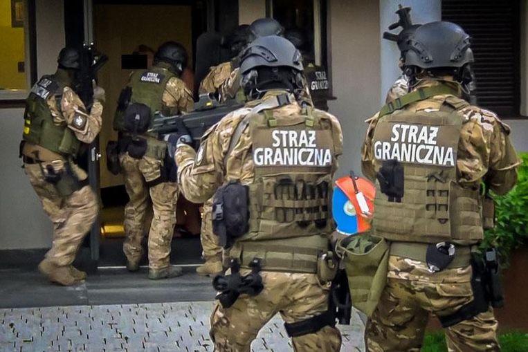 Een actie tegen een bende in Polen, met de steun van Europol. Beeld Europol